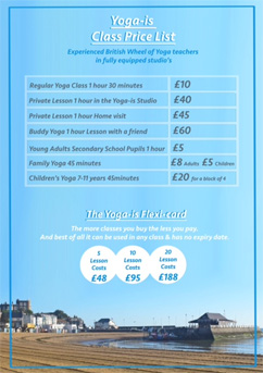 Yoga-Is Price List