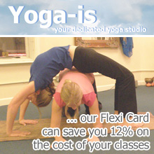 image promoting Yoga Is Flexi Card